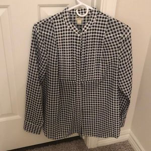 J.Crew Factory Black and White Blouse